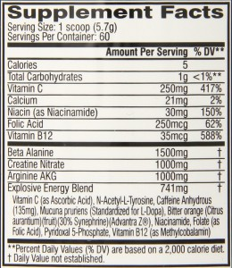 c4 extreme ingredients