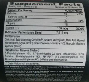 d-stunner ingredients