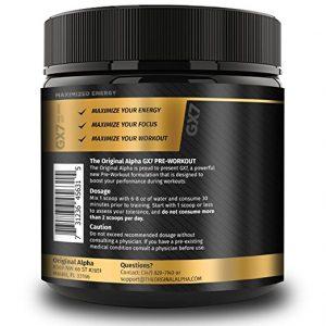 gx7 pre workout ingredients