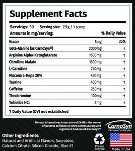 the original alpha gx7 pre workout ingredients
