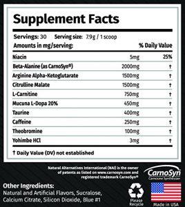 the original alpha gx7 pre workout ingredients